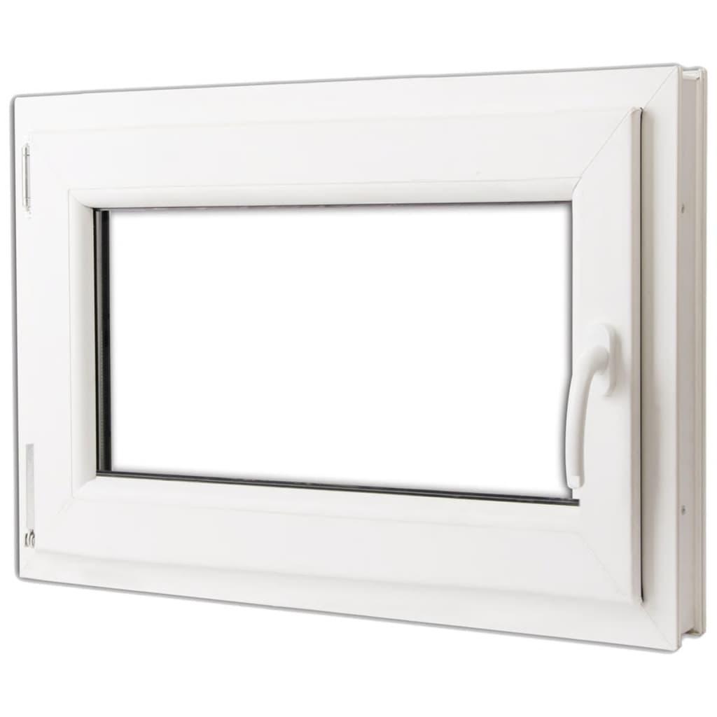 Fereastră batantă PVC, mâner pe dreapta și vitraj dublu, 800 x 600 mm vidaxl.ro