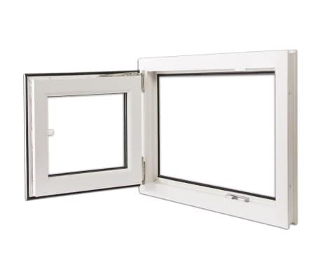 Finestra anta ribalta pvc manico a destra con doppi vetri 800 x 600 mm - Finestra anta ribalta ...