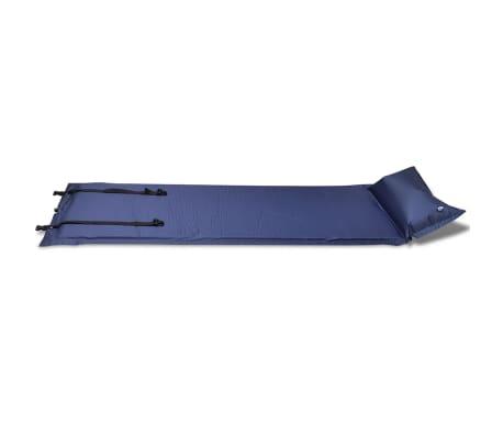 Blå självuppblåsbart liggunderlag 185 x 55 x 3 cm (enkelsäng)[3/5]