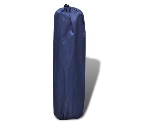 Blå självuppblåsbart liggunderlag 185 x 55 x 3 cm (enkelsäng)[4/5]