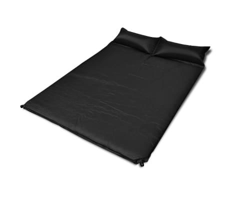 Colchón de aire autohinchable negro 190 x 130 x 5 cm (Doble)[1/5]