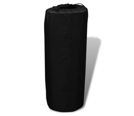 Slaapmat zelfopblazend zwart 190 x 130 x 5 cm (dubbel)[4/5]