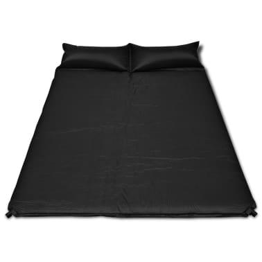 Colchón de aire autohinchable negro 190 x 130 x 5 cm (Doble)[2/5]