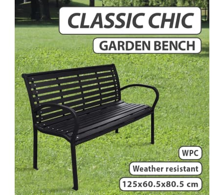 Sensational Details About Vidaxl Garden Bench With Steel Frame Outdoor Park Lounge Patio Chair Seat Ncnpc Chair Design For Home Ncnpcorg