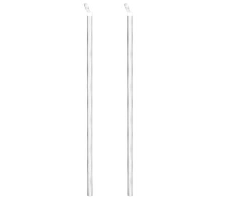 vidaXL Оградна мрежа с колове и клинове поцинкована стомана 25x0,8 м[5/11]