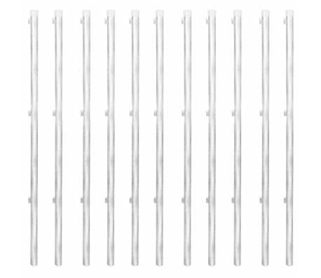 vidaXL Оградна мрежа с колове и клинове поцинкована стомана 25x0,8 м[6/11]