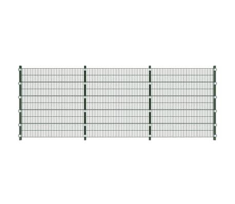 vidaXL Fence Panel with Posts 6x2 m Green