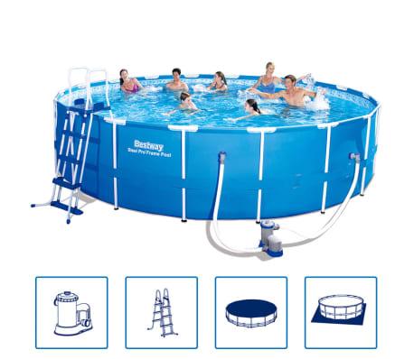 Bestway Pool med stålram Steel Pro rund 549 x 122 cm 56462