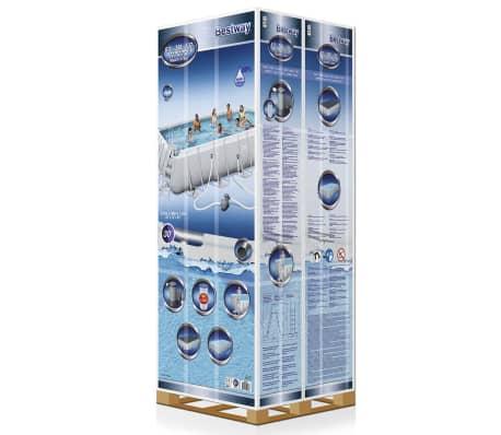 bestway power steel schwimmbad eckig stahlrahmen 671x366x132cm 56470 g nstig kaufen. Black Bedroom Furniture Sets. Home Design Ideas