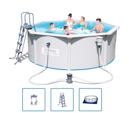 bestway hydrium stahlrahmen swimming pool set rund 360 x 120 cm g nstig kaufen. Black Bedroom Furniture Sets. Home Design Ideas