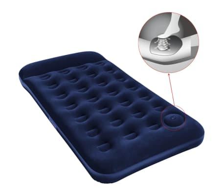 Acheter matelas gonflable floqu bestway avec pompe pied - Comment gonfler un matelas avec pompe integree ...