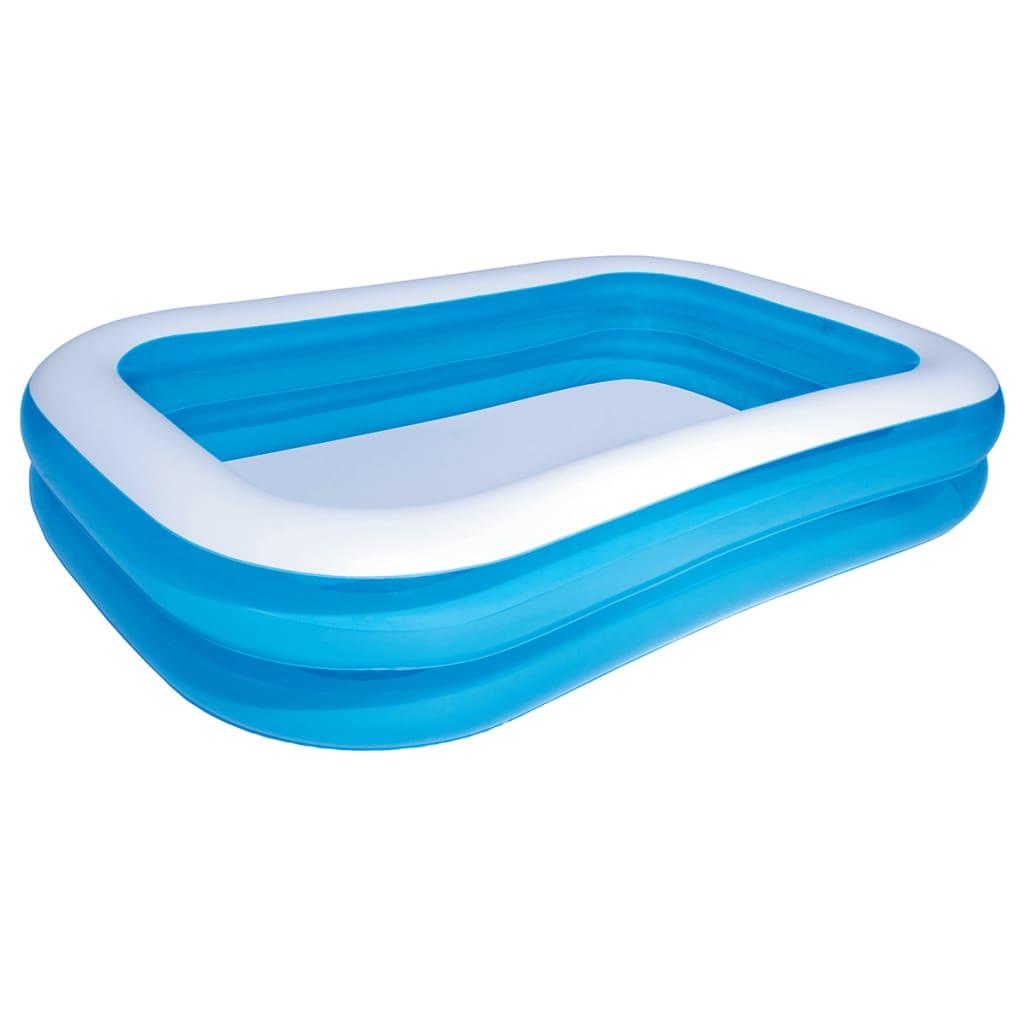 Bestway Zwembad opblaasbaar 262x175x51 cm blauw/wit 54006