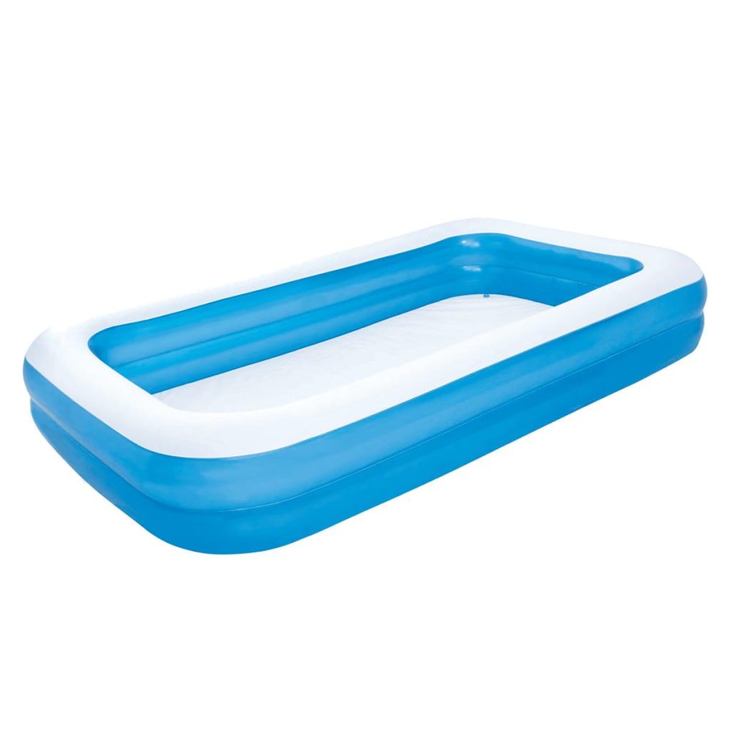 Bestway Zwembad opblaasbaar 305x183x46 cm blauw/wit 54009