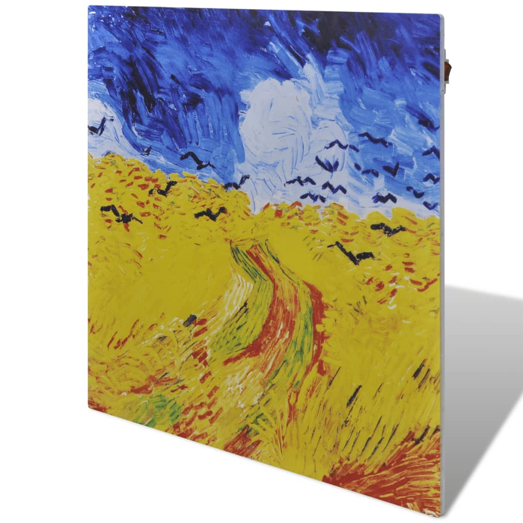 Radiator panou cu infraroșu 400 W 60 x 60 cm cu tematica Van Gogh imagine vidaxl.ro