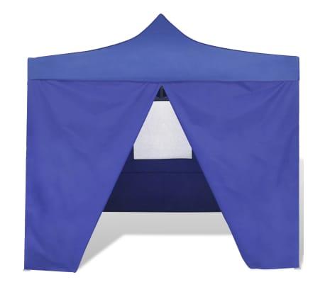 vidaXL Tienda de fiesta plegable 3x3 m con 4 paredes azul[3/11]