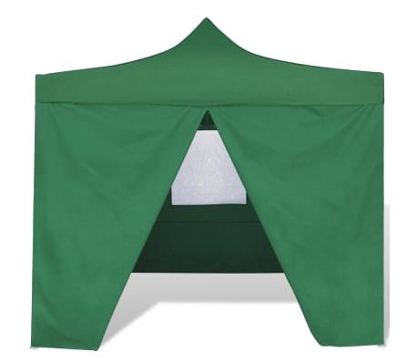 Handla vidaXL Hopfällbart tält 3 x 3 m 4 väggar grön   vidaXL.se