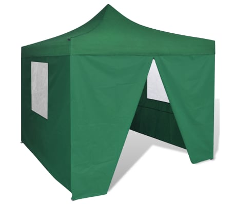 acheter vidaxl tente pliable verte 3 x 3 m avec 4 parois pas cher. Black Bedroom Furniture Sets. Home Design Ideas