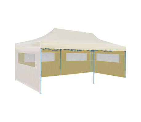 "vidaXL Cream Foldable Pop-up Party Tent 9'10""x19'8"""