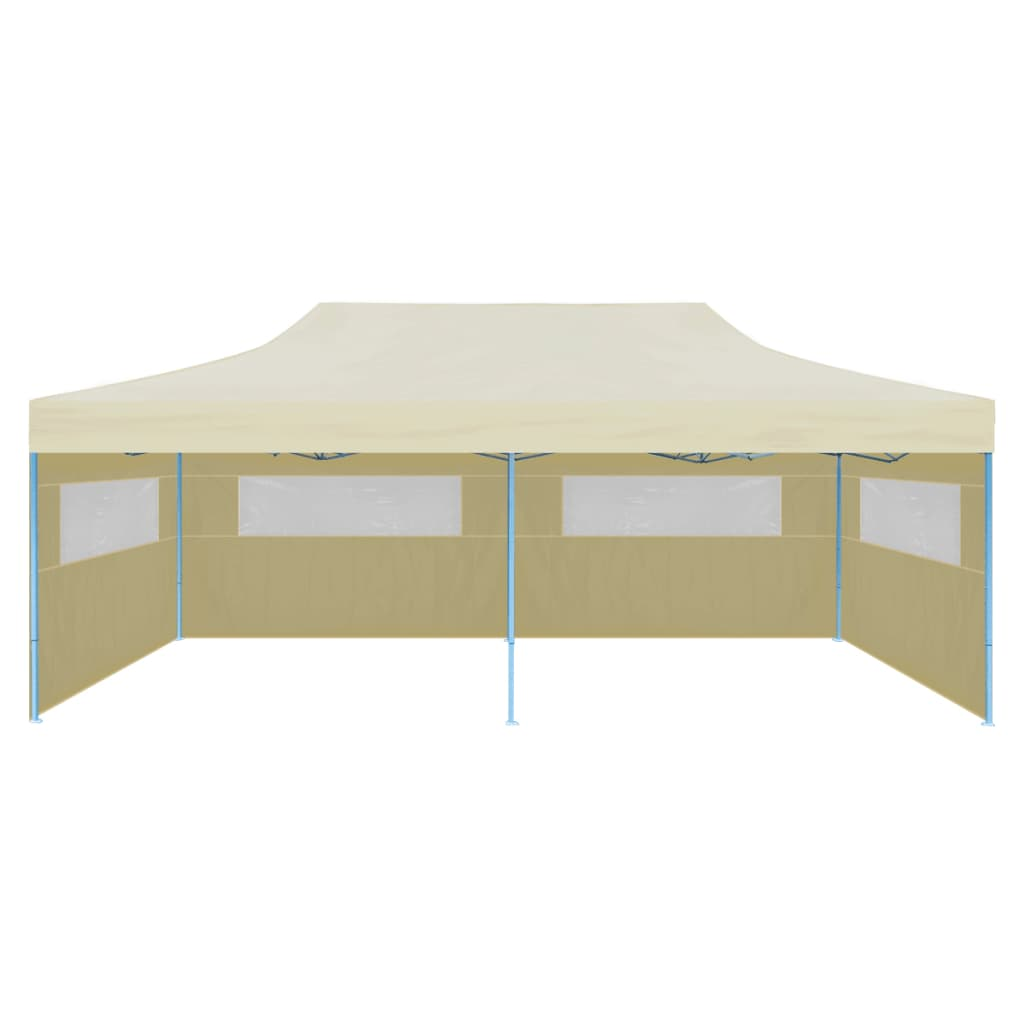 vidaXL Partytent pop-up inklapbaar 3x6 m creme