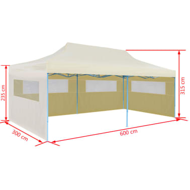 vidaXL Carpa plegable Pop-up 3x6 m crema[9/11]