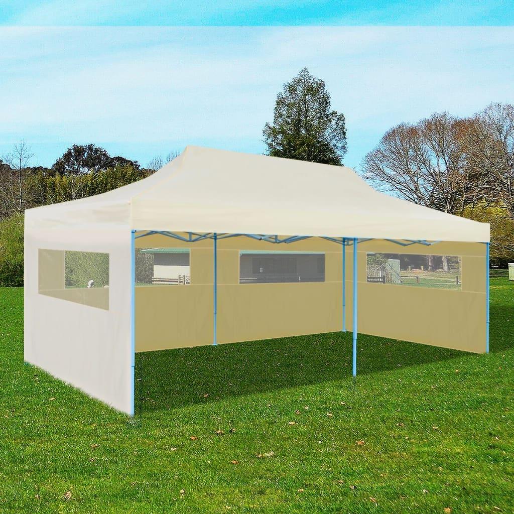 Opvouwbare pop-up feest tent 3 x 6 m (Creme)