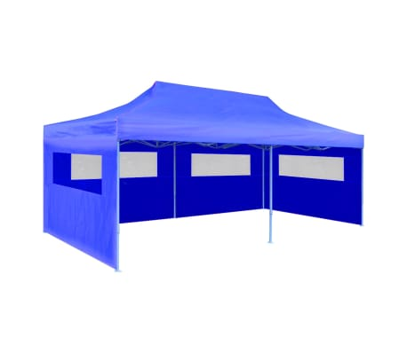 "vidaXL Blue Foldable Pop-up Party Tent 9'10"" x 19'8"""