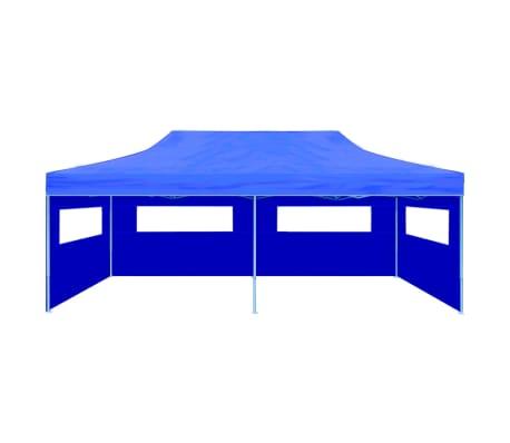 "vidaXL Blue Foldable Pop-up Party Tent 9'10"" x 19'8""[3/11]"