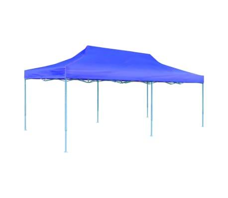 "vidaXL Blue Foldable Pop-up Party Tent 9'10"" x 19'8""[4/11]"