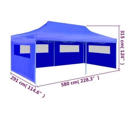 "vidaXL Blue Foldable Pop-up Party Tent 9'10"" x 19'8""[9/11]"