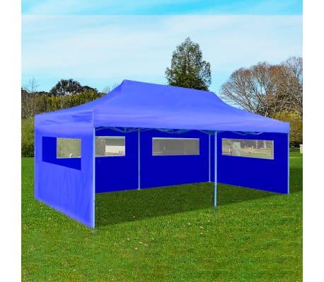 "vidaXL Blue Foldable Pop-up Party Tent 9'10"" x 19'8""[1/11]"