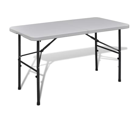"vidaXL Foldable Garden Table 48"" HDPE White[1/5]"