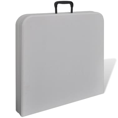 "vidaXL Foldable Garden Table 48"" HDPE White[3/5]"