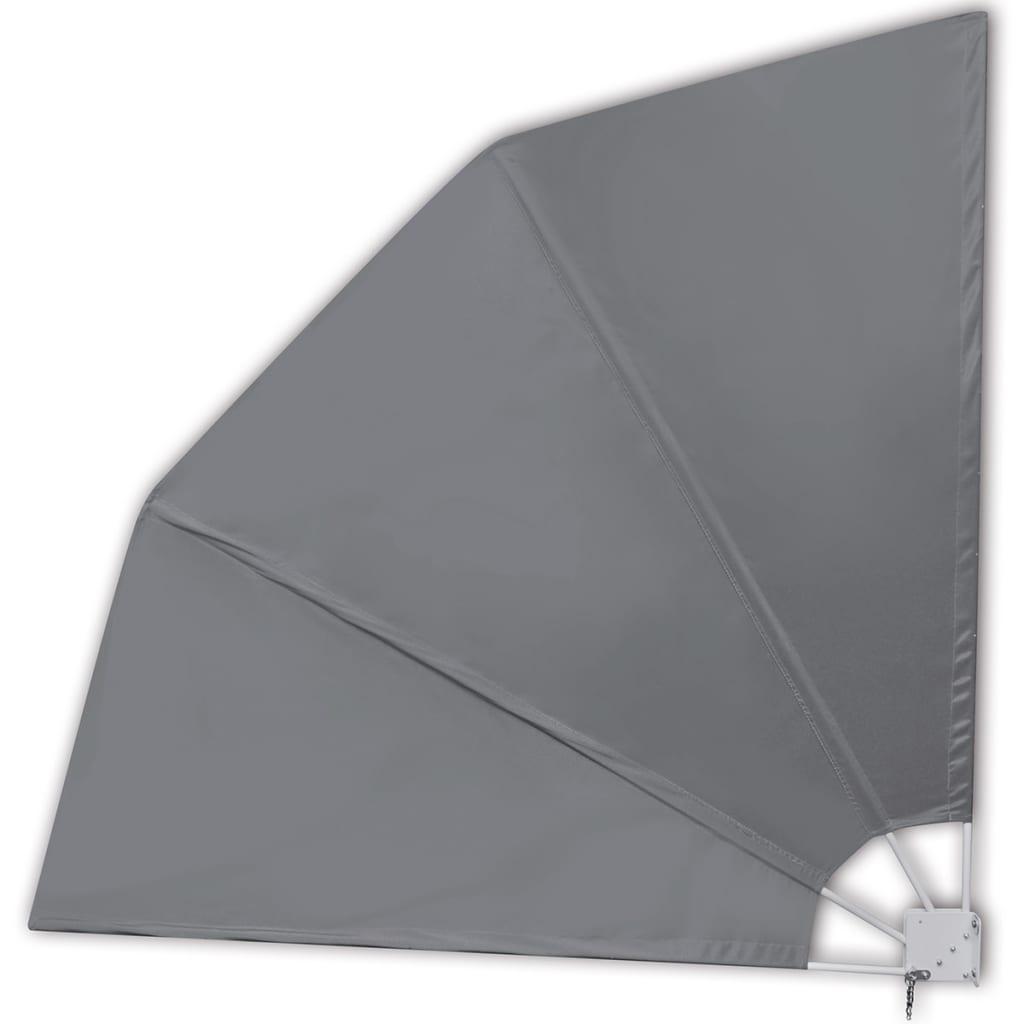 vidaXL Windscherm inklapbaar voor terras 210 x 210 cm grijs