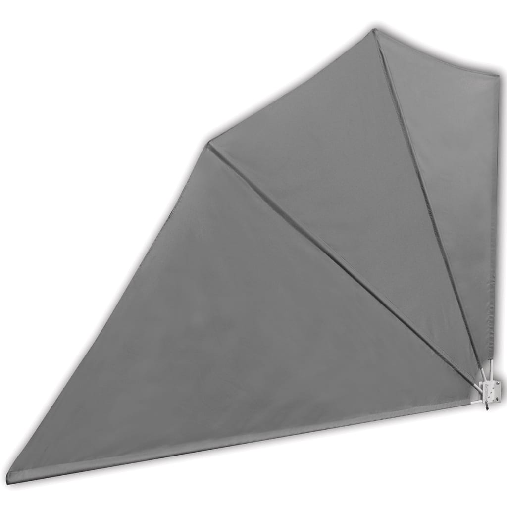 vidaXL Σκίαστρο Βεράντας Πλαϊνό Πτυσσόμενο Γκρι 160 x 240 εκ.