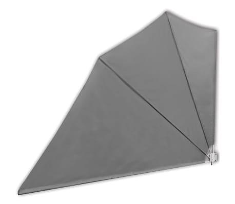 vidaXL Сгъваема странична тента за балкон, сива, 160x240 см