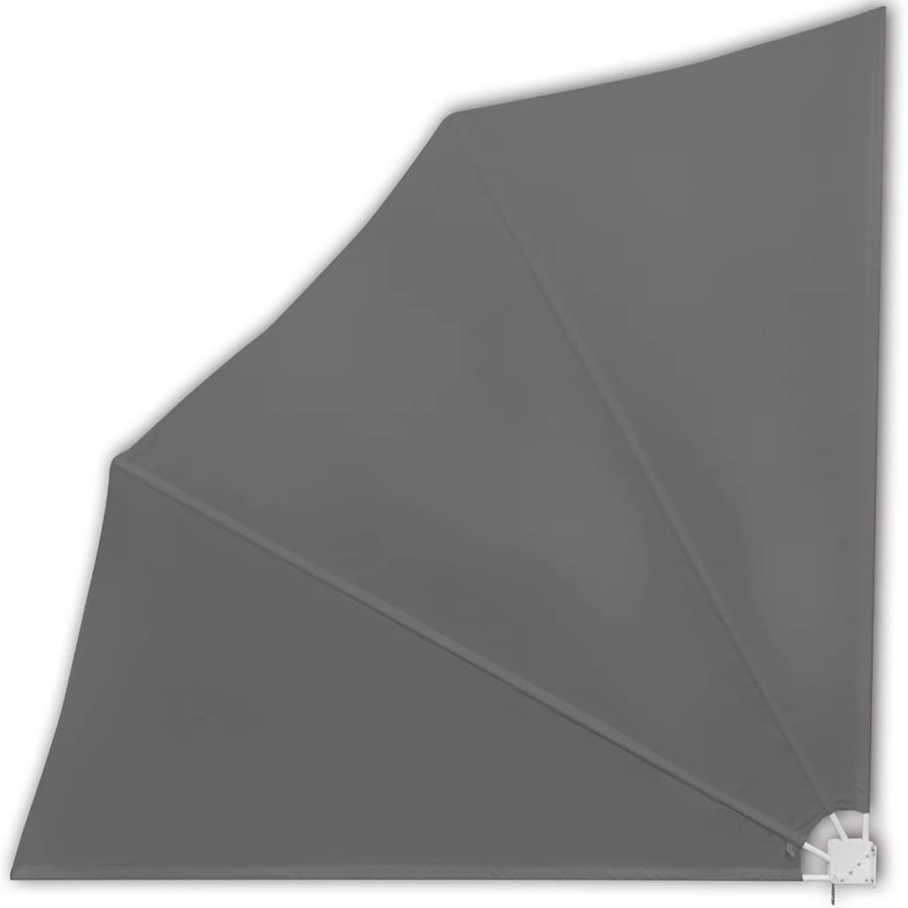vidaXL Windscherm inklapbaar voor terras 140 x 140 cm grijs