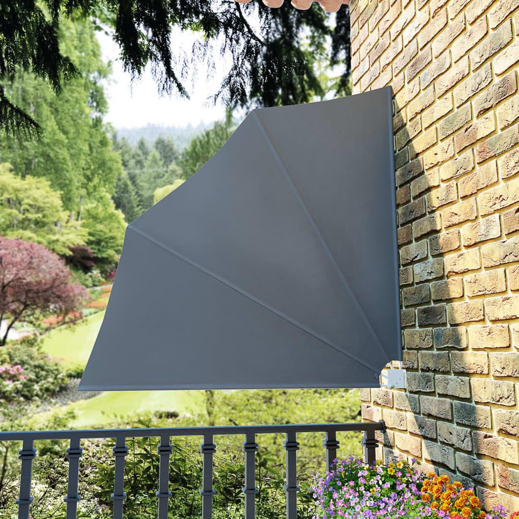 vidaXL Skládací zástěna na balkon šedá 140 x 140 cm