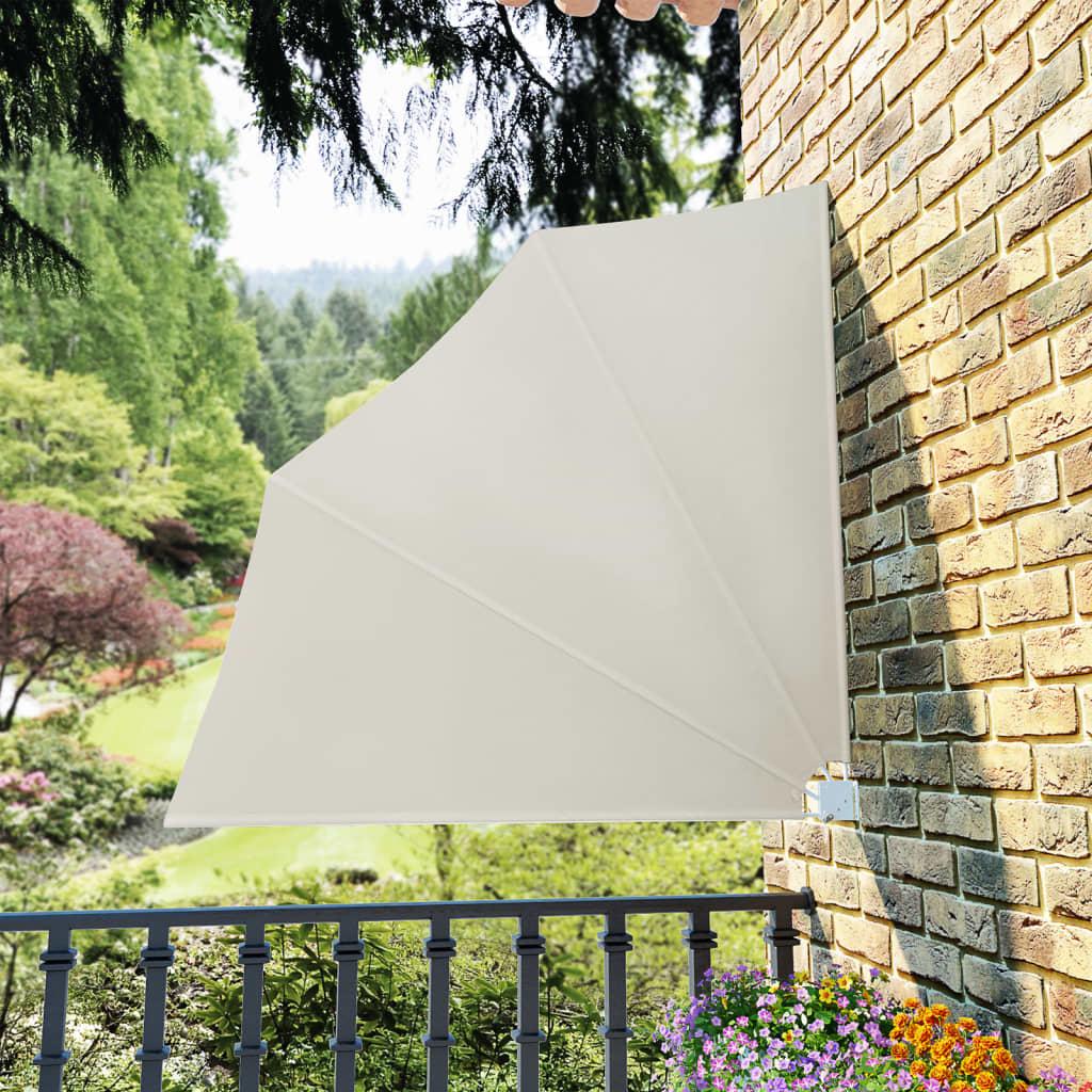 vidaXL Skládací zástěna na balkon krémová 140 x 140 cm