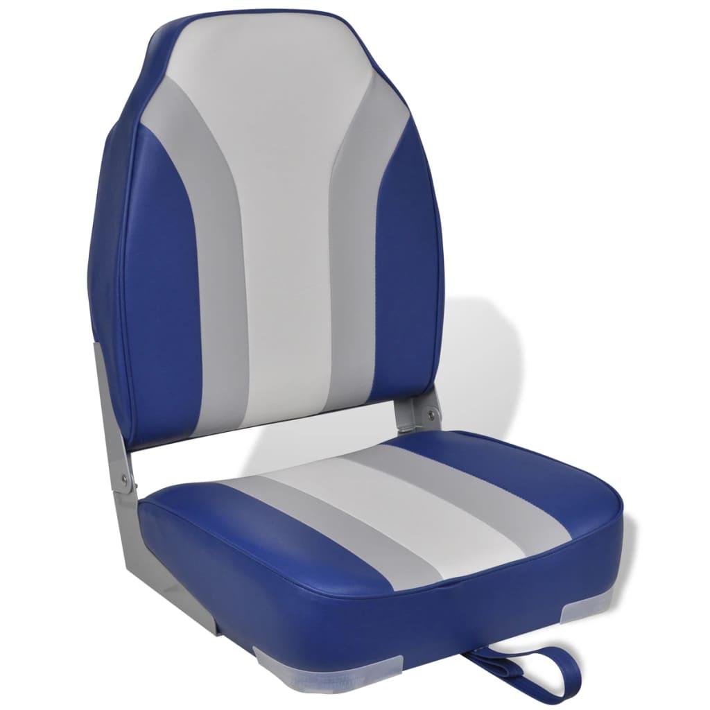 Skládací sedadlo do člunu s vysokým opěradlem