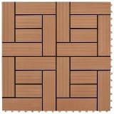 """Brown 11 pcs 11.8""""x11.8"""" Decking Tiles WPC 11 ft²"""
