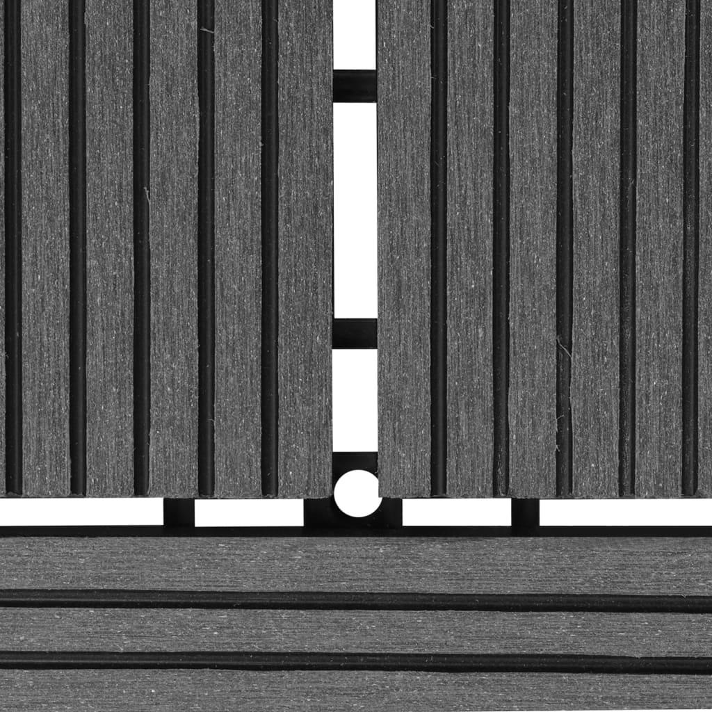 Hallid terrassiplaadid 11 tk WPC 30 x 30 cm