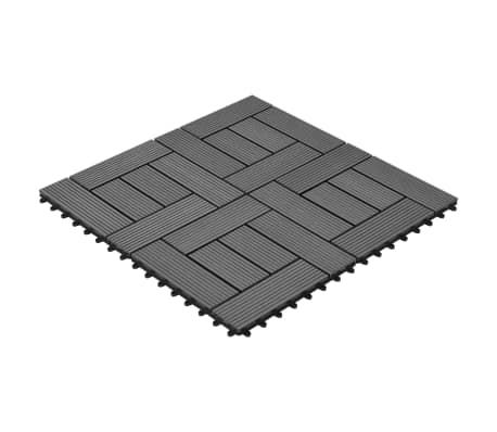 Pilkos Terasinės Plytelės, 1 m2, 11 vnt., 30 x 30 cm, WPC[2/6]