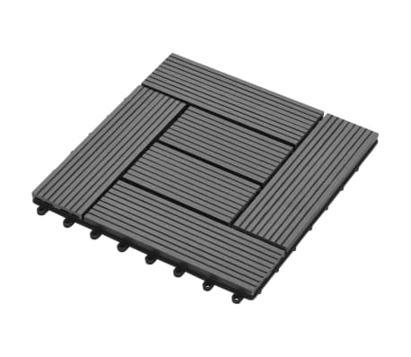 Pilkos Terasinės Plytelės, 1 m2, 11 vnt., 30 x 30 cm, WPC[3/6]