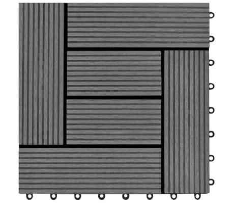 Pilkos Terasinės Plytelės, 1 m2, 11 vnt., 30 x 30 cm, WPC[5/6]