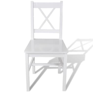 vidaXL Dining Chairs 6 pcs Wood White[2/5]