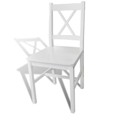 vidaXL Dining Chairs 6 pcs Wood White[3/5]