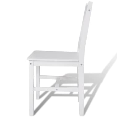 vidaXL Dining Chairs 6 pcs Wood White[4/5]