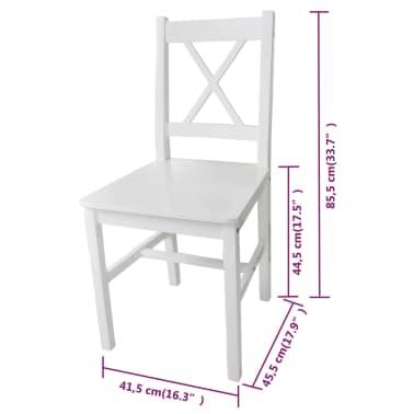 vidaXL Dining Chairs 6 pcs Wood White[5/5]