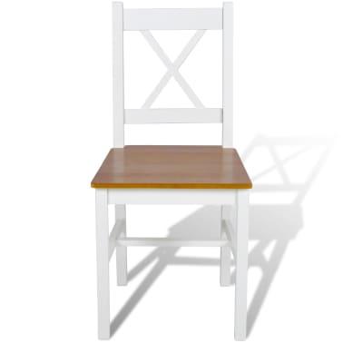 vidaXL Dining Chairs 6 pcs White Pinewood[2/5]