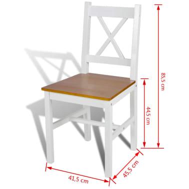 vidaXL Dining Chairs 6 pcs White Pinewood[5/5]